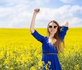 Girl in enjoying free time — Stock Photo