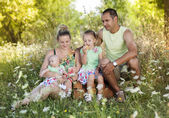 Family spending time together — Stock Photo