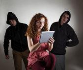 Nebezpečí internetu — Stock fotografie
