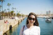 Woman in Barcelona — Стоковое фото