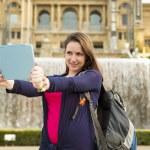 Tourist taking selfiein — Stock Photo #46770535