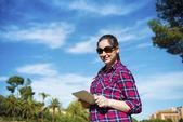 Tourist digital Tabletts — Stockfoto