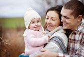Famille heureuse nature autum — Photo