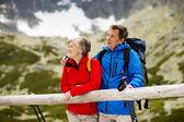 Senior at mountains — Foto de Stock