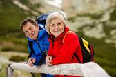 Senior couple at mountains — Foto Stock