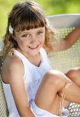 Girl is enjoying leisure time — Stock Photo