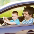 Father with son driving car — Stock Photo #48498069