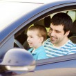 Father with son driving car — Stock Photo #48498113