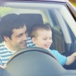 Father with son driving car — Stock Photo #48498161