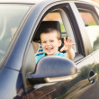 Father with son driving car — Stock Photo #48498229