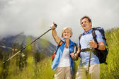 Senior tourist couple — Stock Photo