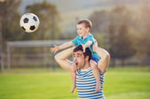 Father with son having fun — Stock Photo