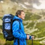 Man hiking at mountains — Stock Photo #49235065