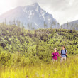 Couple hiking at mountains — Stock Photo #49235507