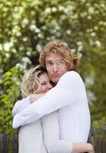 Happy couple hugging — Stock Photo