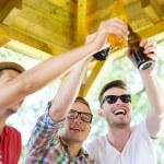 znajomych do picia piwa — Zdjęcie stockowe