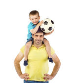 Father and his son playing — Stock Photo