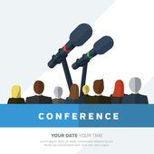 Konferencja szablon ilustracja — Wektor stockowy