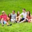 Friends having fun in park — Stock Photo #51179295
