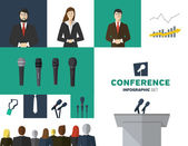 Conference template — Stock Vector
