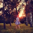 Постер, плакат: Girl in forest