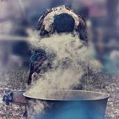 Male shaman — Stock Photo