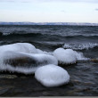 Winter lake Lake Baikal — Stock Photo