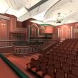 Stock Photo: Luxury audience hall