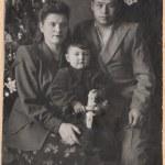 Family portrait. retro style. — Stock Photo