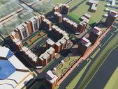 Residential Complex Irkutsk (3d rendering) — Stock Photo