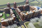 Residential Complex Irkutsk (3d rendering) — 图库照片