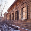 Old wooden house in the Irkutsk city — Stock Photo #40325873