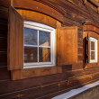 Old wooden house in the Irkutsk city — Stock Photo