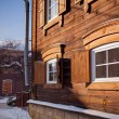 Stock Photo: Old wooden house in the Irkutsk city
