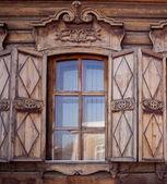 Old wooden house in the Irkutsk city — Stock Photo