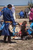 Reunión de chamanes en olkhon — Foto de Stock