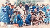 Sacrifice shamans on Olkhon — Stock Photo