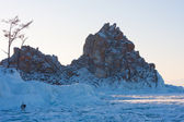 Mount Shaman. Olkhon Island in the winter — Stock Photo