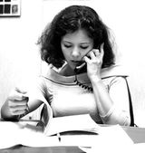 Young female office manager — Stock Photo