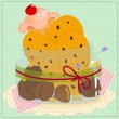 Royalty-Free Stock Vector Image: Jar-with-cookies-and-cake