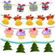 Royalty-Free Stock Vector Image: Four New Year garlands