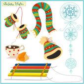 Winter style stuff — Stock Vector