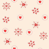 Love snowflakes seamless — Stock Vector