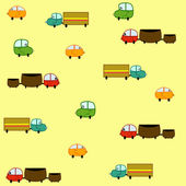 Cars seamless — Stock Vector