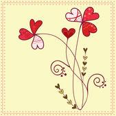 Love flowers — Stock Vector
