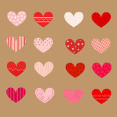 Decorated hearts, patterns, seamless — Stock Vector