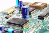 Printed Circuit Components. — Stock Photo