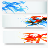 Abstract banner set — Stok Vektör