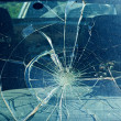 The broken windshield in the car accident — Стоковая фотография
