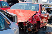 The car accident where the damage was huge — Stock Photo